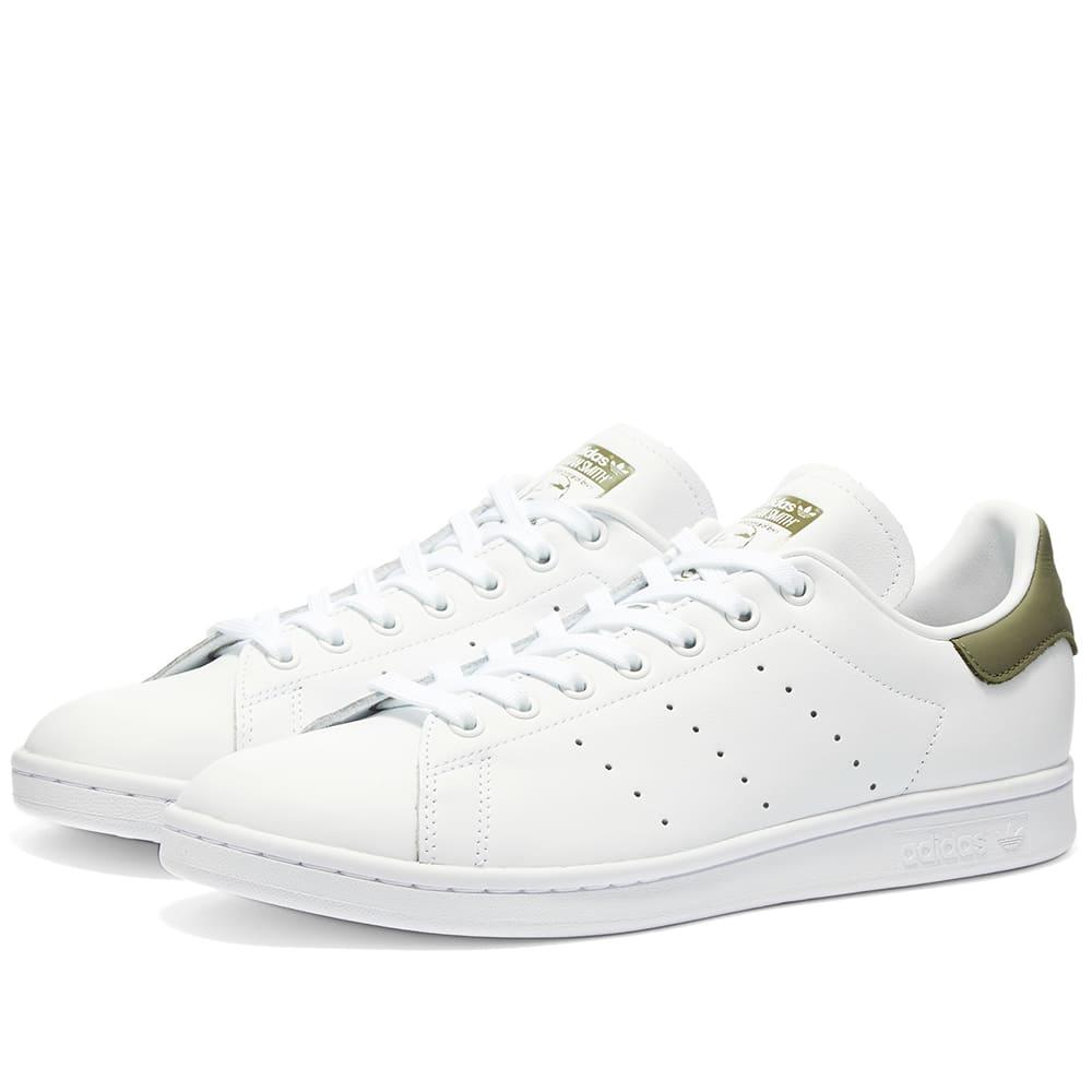 Adidas Stan Smith White \u0026 Legacy Green