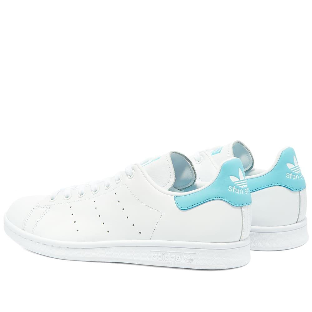 Adidas Stan Smith White \u0026 Blue Glow | END.