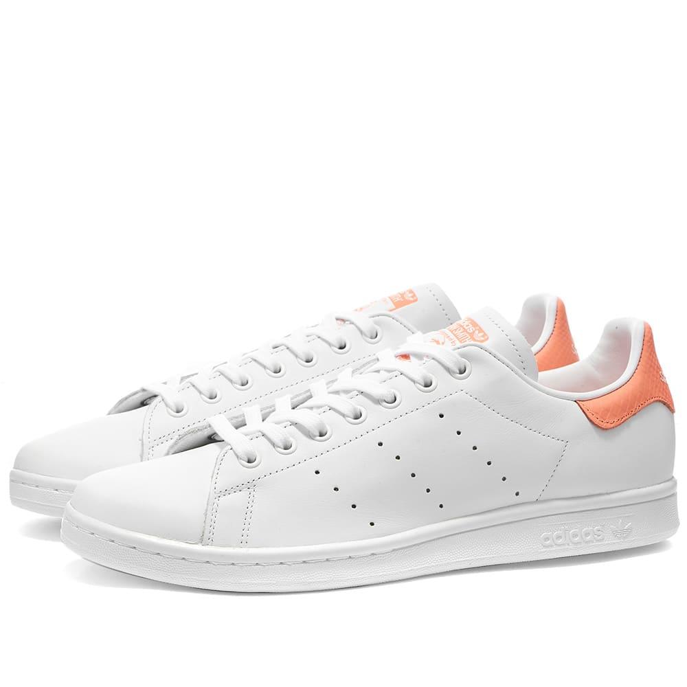 auxiliar empeorar Temblar  Adidas Stan Smith W White & Chalk Coral | END.