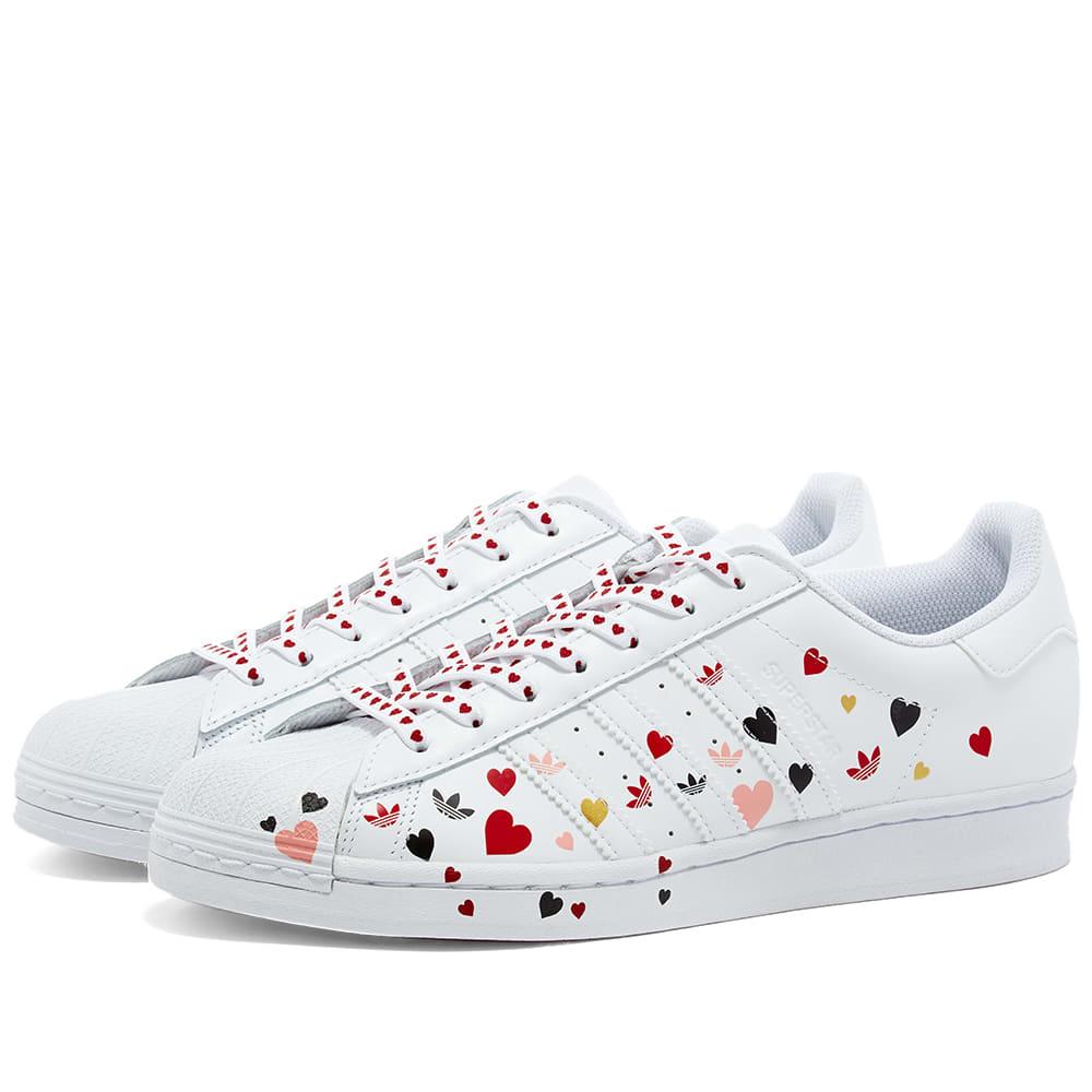 Adidas Superstar W White, Black \u0026 Pink