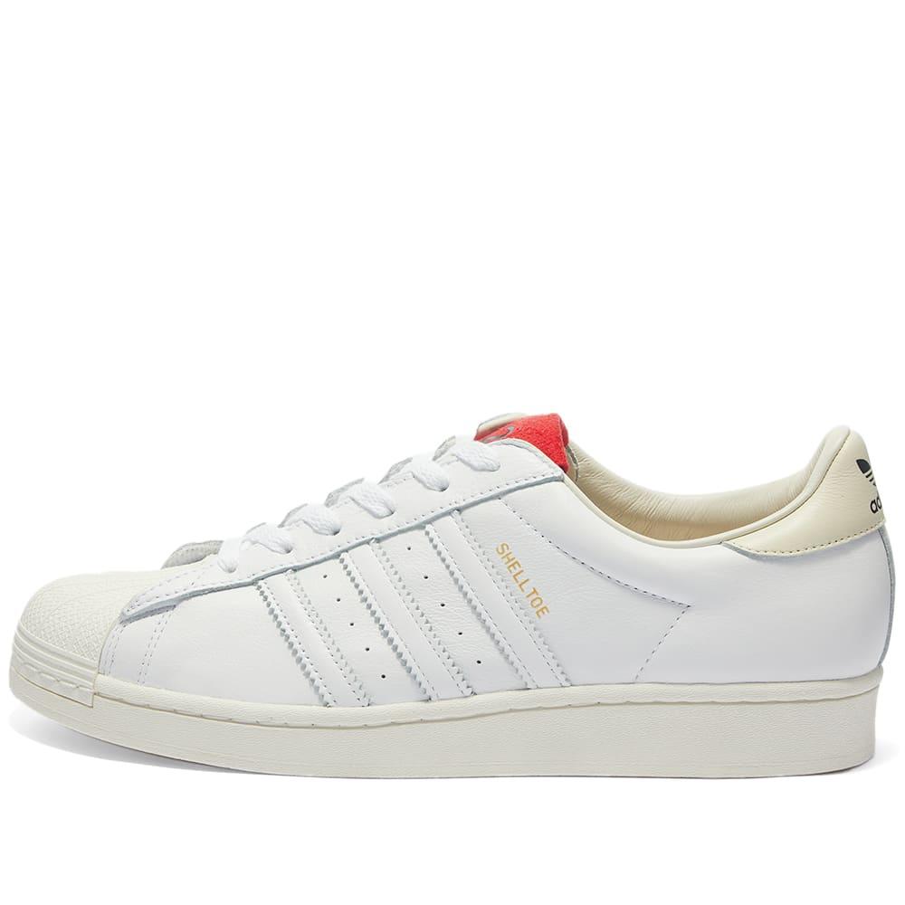 Adidas x 424 Shelltoe White \u0026 Red   END.