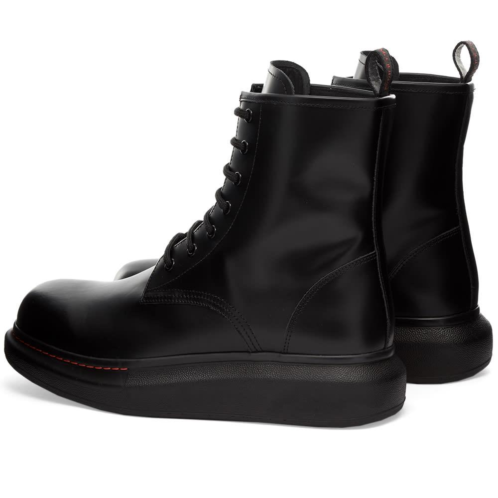 Alexander McQueen Suede Wedge Sole Boot