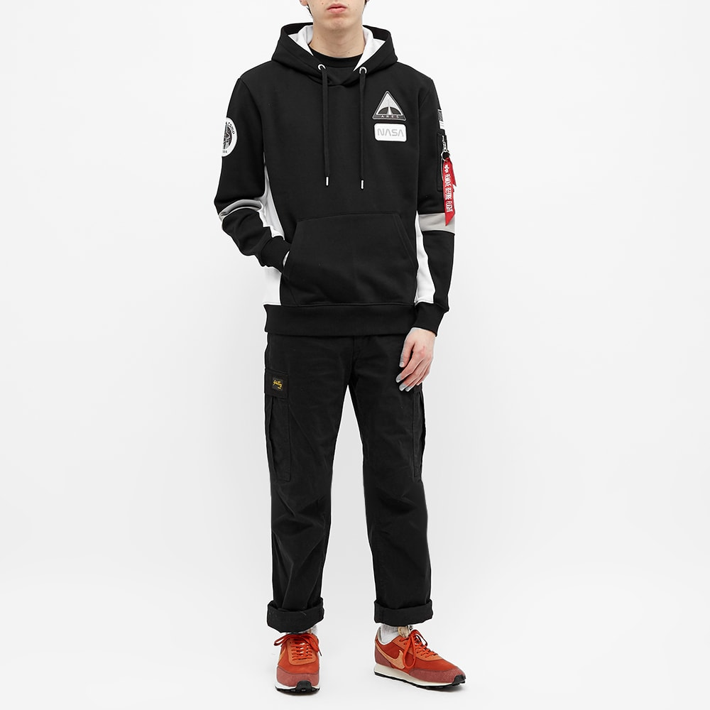 Alpha Industries Herren Kapuzenpulover Space Camp Hoody Schwarz Männer 6274