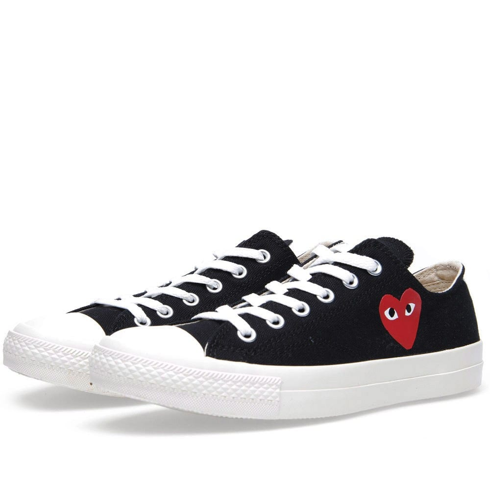 comme des garcons play x converse all star ox black red. Black Bedroom Furniture Sets. Home Design Ideas