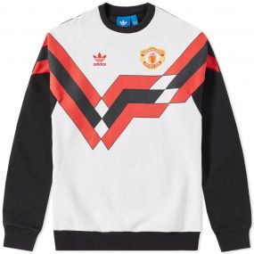 adidas manchester united crew sweat black. Black Bedroom Furniture Sets. Home Design Ideas