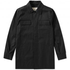 Mackintosh Cotton Shirt Jacket (Black) | END.