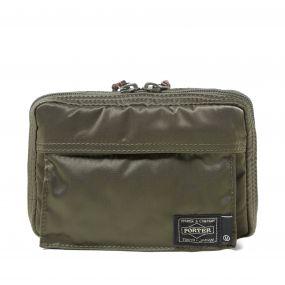 Undercover x porter zip wallet khaki for Undercover x porter