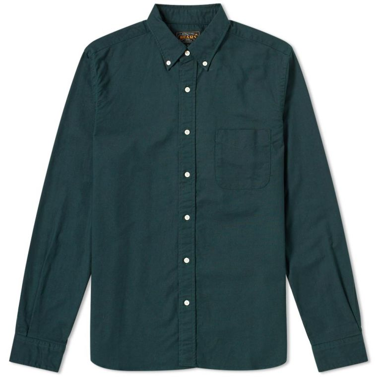 Beams Plus Button Down Oxford Shirt (Green)