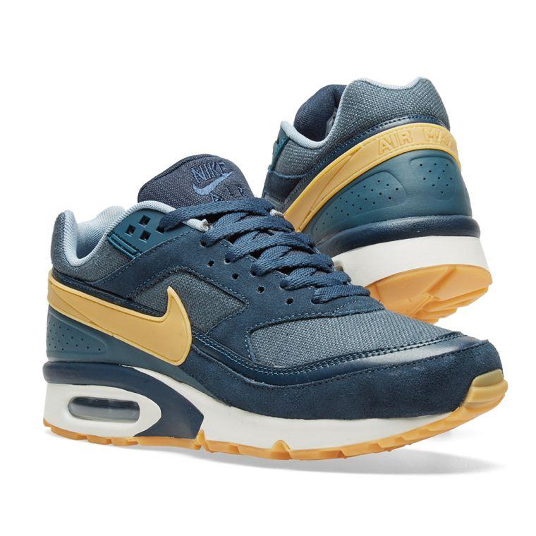 Nike Air Max Bw Premium Armory NavyGum Yellow Blue fo