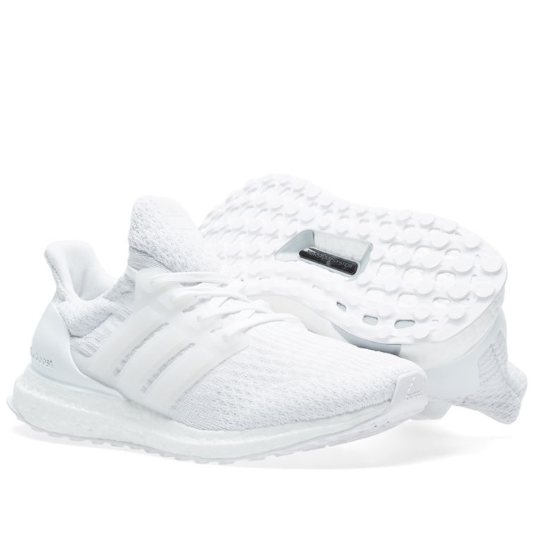 Adidas Ultra Boost M (White & Silver Metallic) End