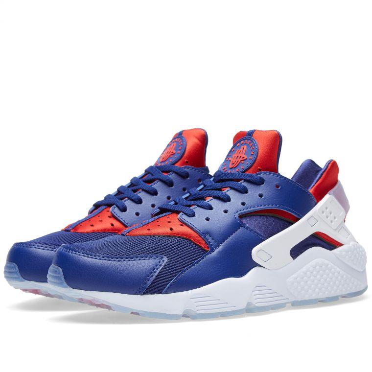 Nike Air Huarache Run London (Deep Royal Blue  Red)  END.