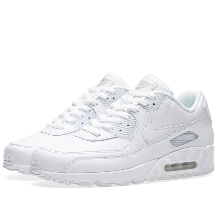 nike air max white leather