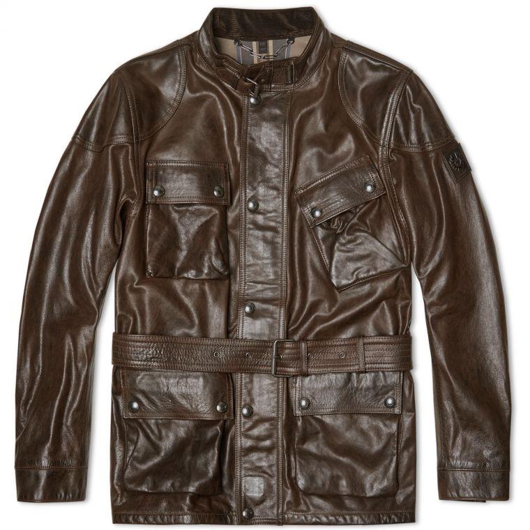 Belstaff New Panther Jacket Black Brown