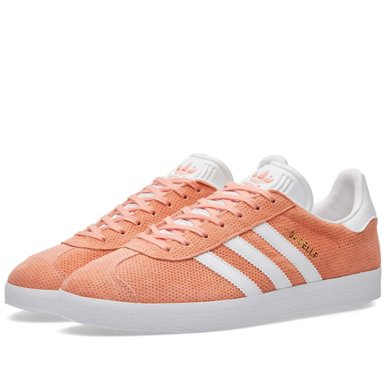 adidas gazelle sunglow,Basket Adidas Gazelle Sun Glow daim rose saumon pour  homme 8e79051a2698