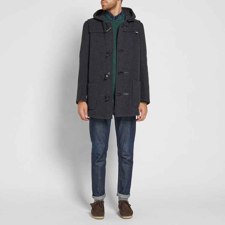 Gloverall Mid Length Duffle Coat (Charcoal) | END.