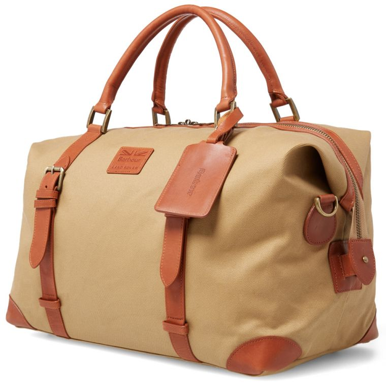 Barbour x Land Rover Weekend Bag (Sand)
