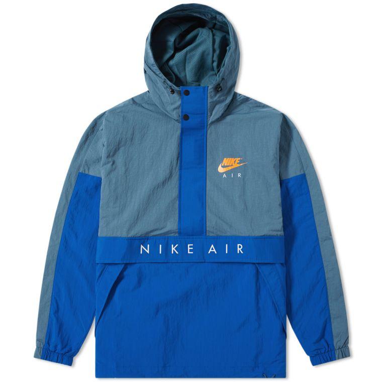 Nike Air Hooded Jacket (Iced Jade, Blue Jay & Orange) | END.