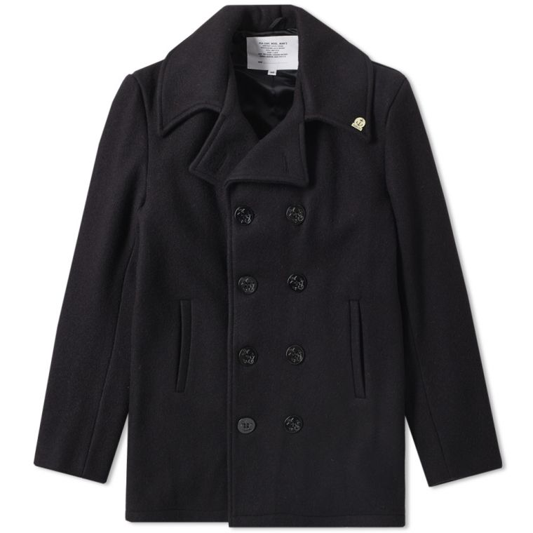 Fidelity Original USN Wool Mix Pea Coat (Navy) | END.