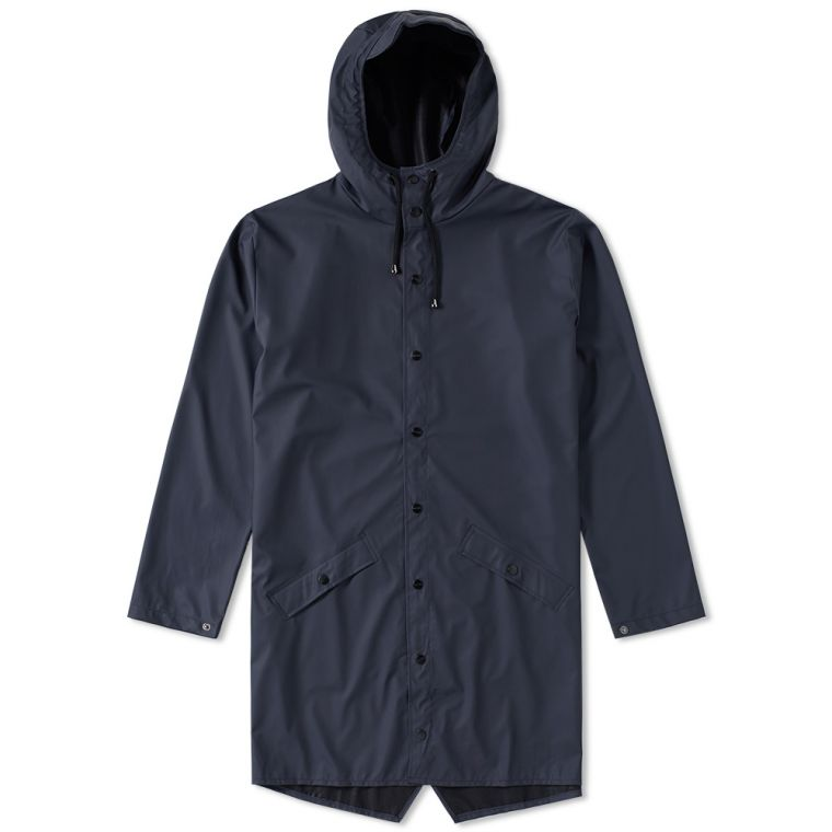 Rains Long Jacket (Blue)