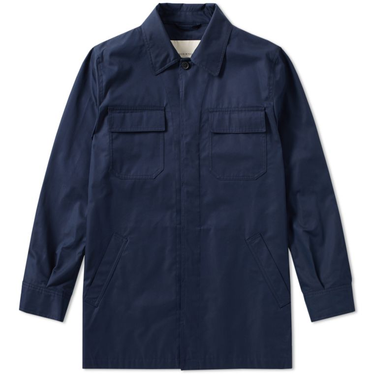 Mackintosh Cotton Shirt Jacket (Navy) | END.