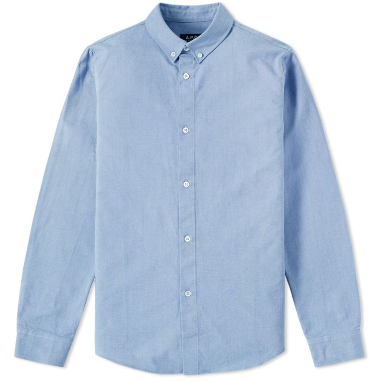 A.P.C. Button Down Oxford Shirt (Blue)