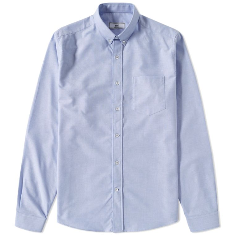 AMI Button Down Oxford Shirt (Blue)
