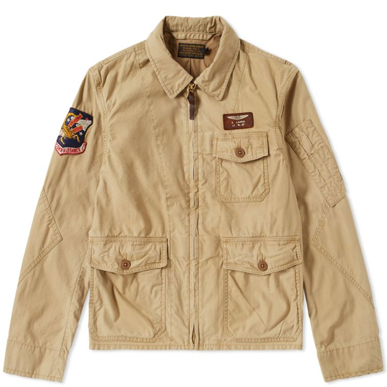 Polo Ralph Lauren Vintage US Flight Jacket (Tan) | END.