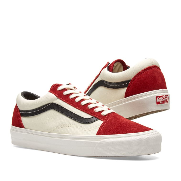vans old skool red dahlia