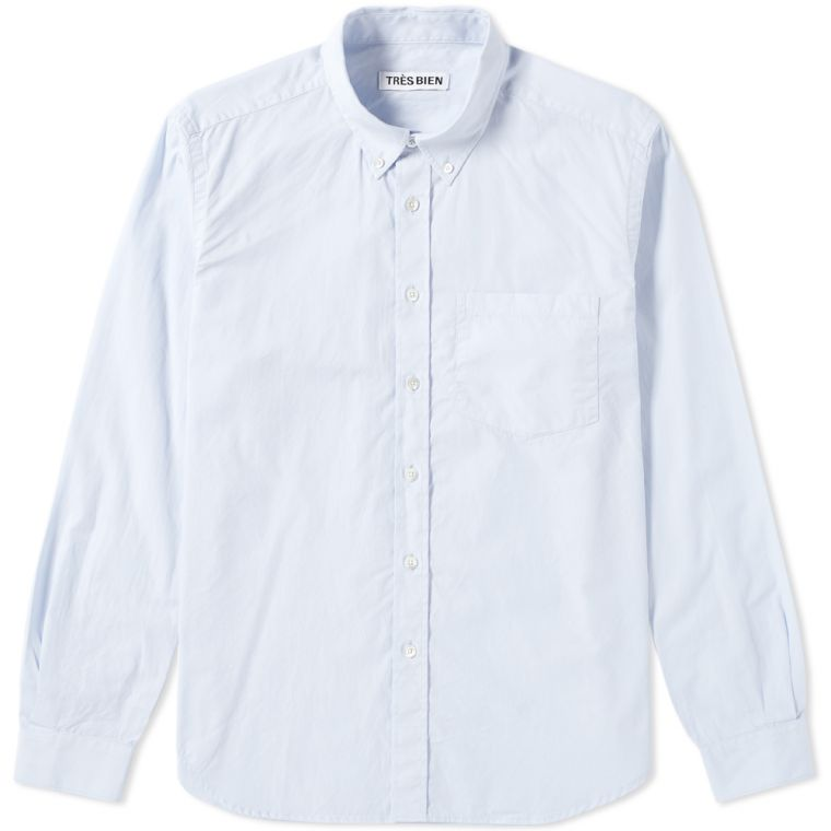 Très Bien Button Down Shirt (Sky Blue)