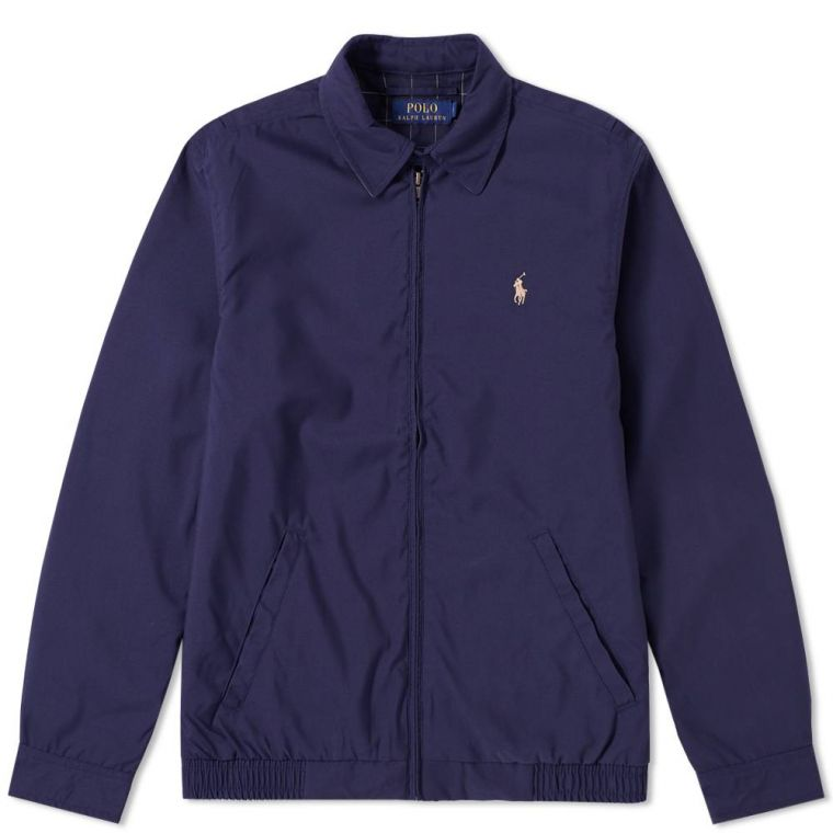 Polo Ralph Lauren Windbreaker Harrington Jacket (French Navy) | END.