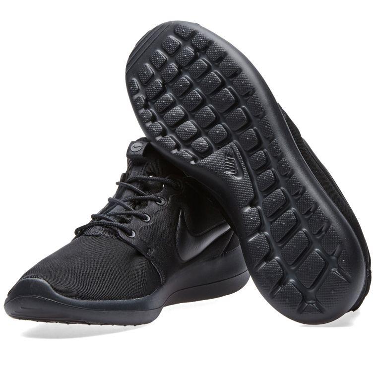 Nike Roshe Two Flyknit 365 2 Rosherun Triple Black Mens Running