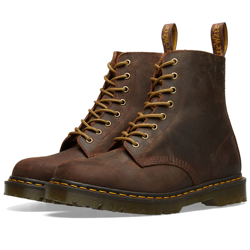 8a17ac8c964 Dr. Martens 1460 Wax Commander Boot - Made in England Mid Brown