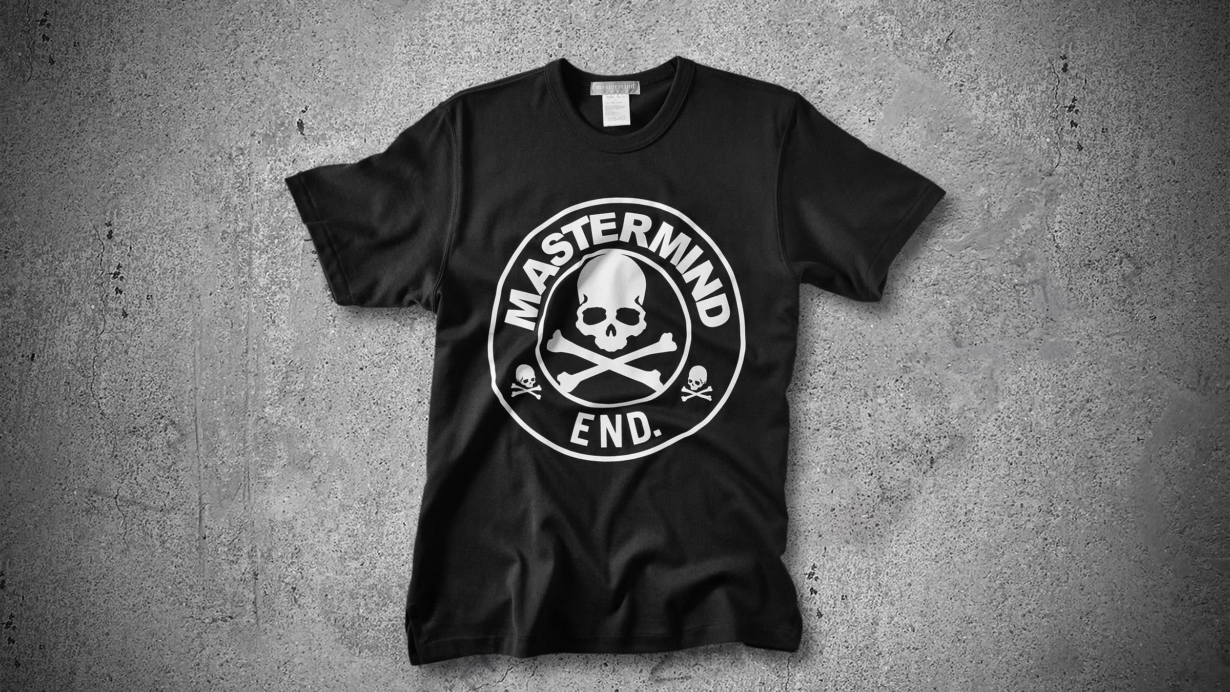 to buy best sale best choice Mastermind Japan x END. Skull Logo Tee