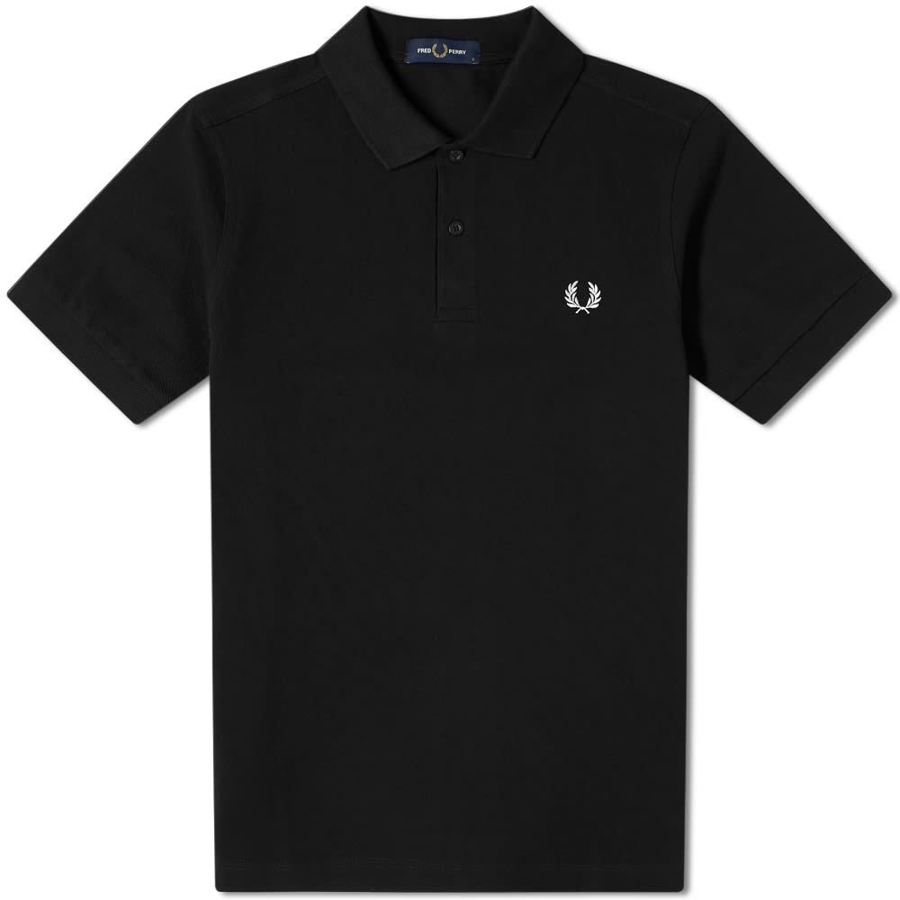 Fred Perry Slim Fit Plain Polo Black | END.