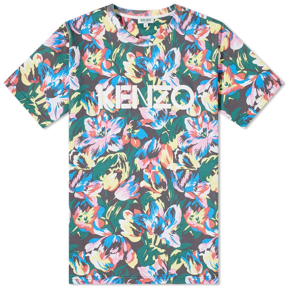 Kenzo x Vans Multi Floral Tee Black