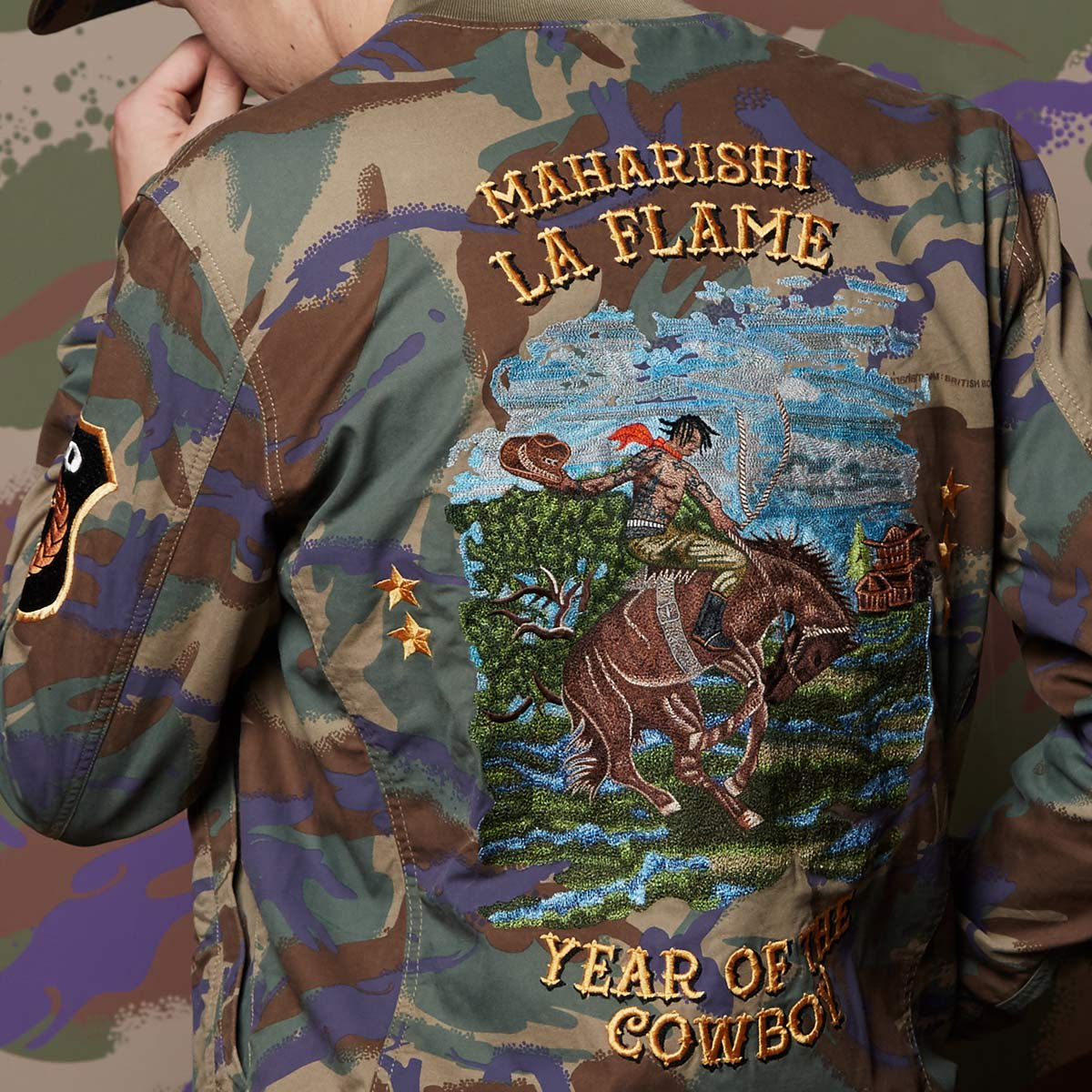 new product b8835 170af Maharishi x Travis Scott Year of the Cowboy Tour Jacket - END. Exclusive