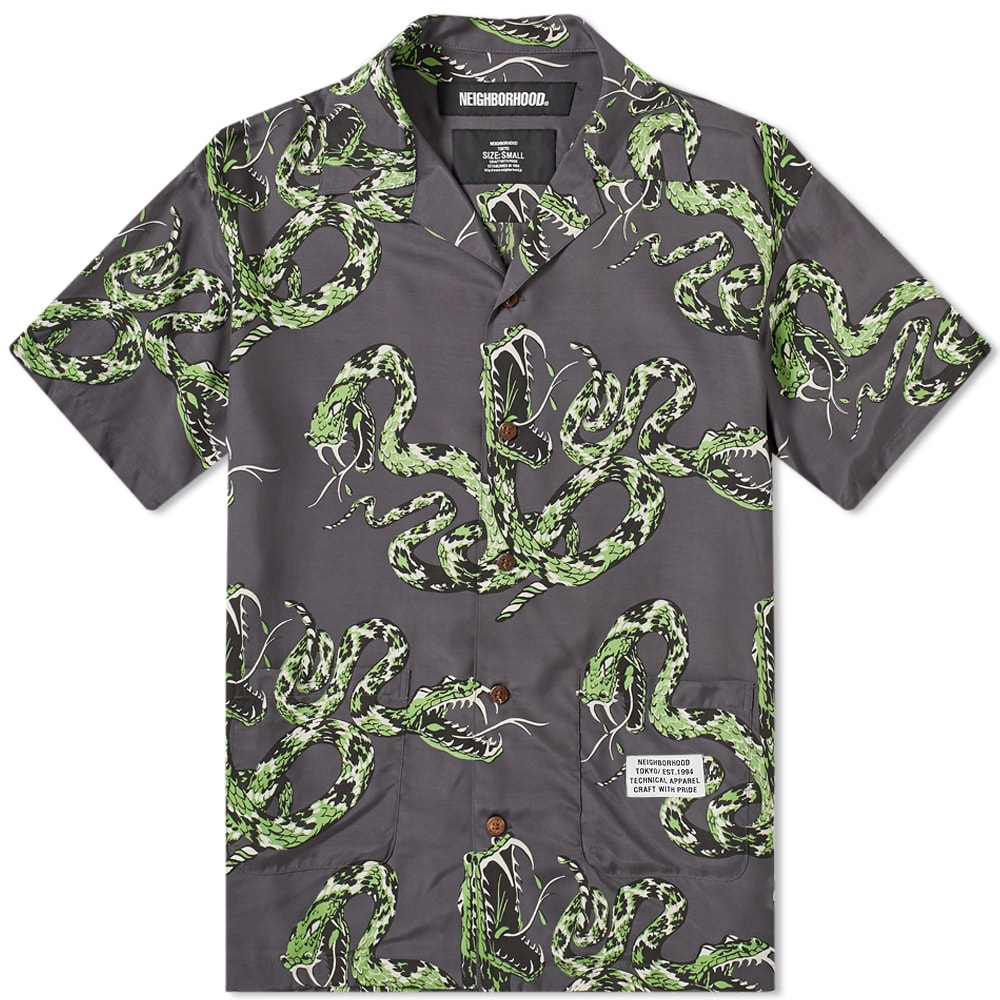 Neighborhood Neighborhood Short Sleeve Aloha Rattlesnake Shirt