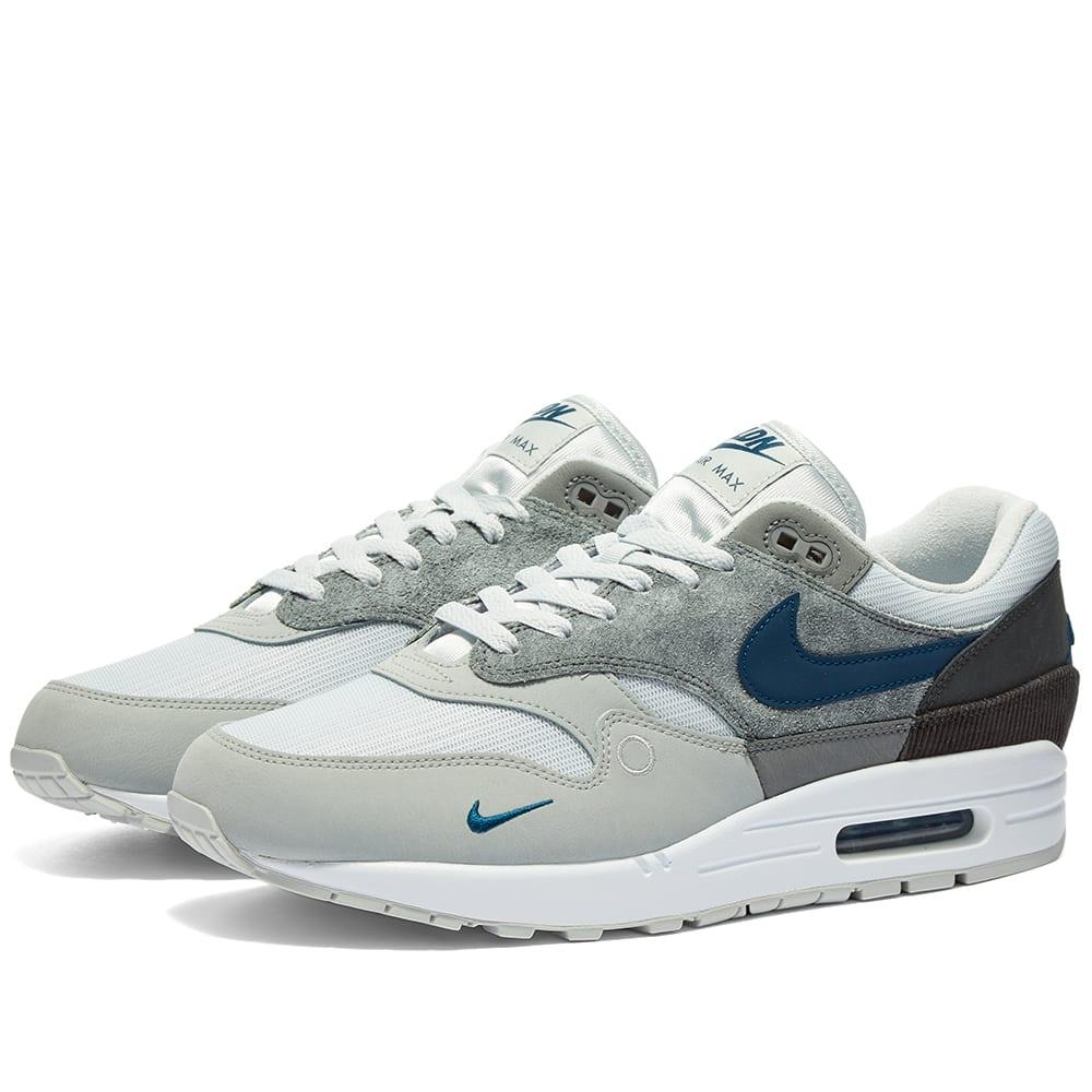 Nike Air Max 1 London Grey & Valerian Blue | END.