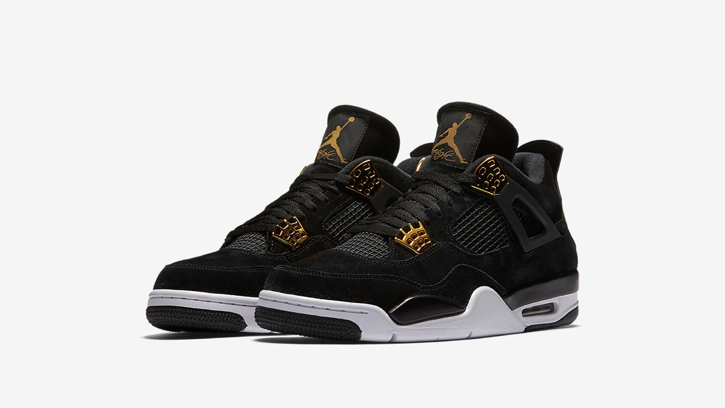 timeless design 8e210 21001 Nike Air Jordan 4 Retro  Royalty  Black, Metallic Gold   White   END.