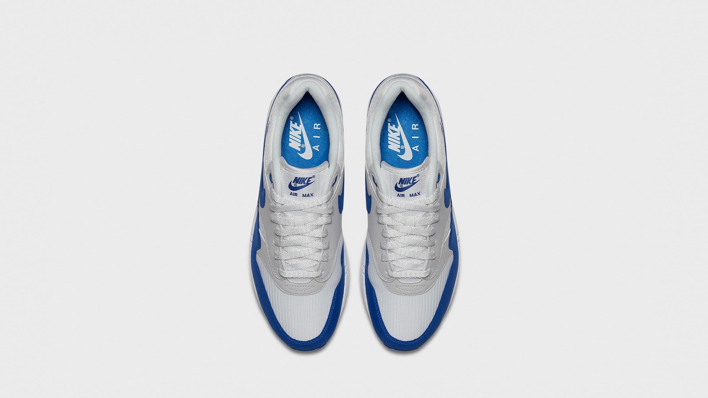 d6c54899fc Nike Air Max 1 Anniversary White & Game Royal | END.
