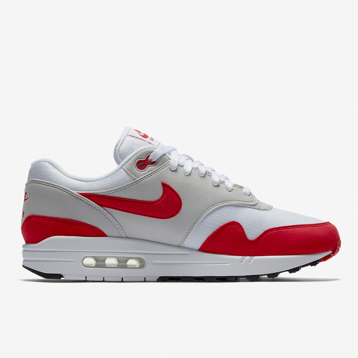 hot sale online 744dc 2a1ea Nike Air Max 1 Anniversary White   University Red   END.