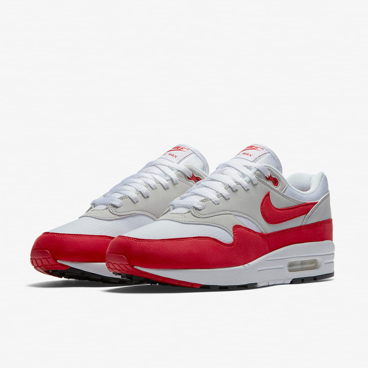 hot sale online 26ef6 23e05 Nike Air Max 1 Anniversary White   University Red   END.