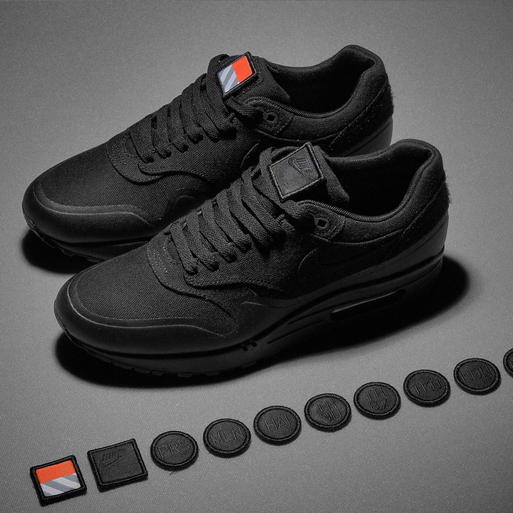 air max 1 patch blak