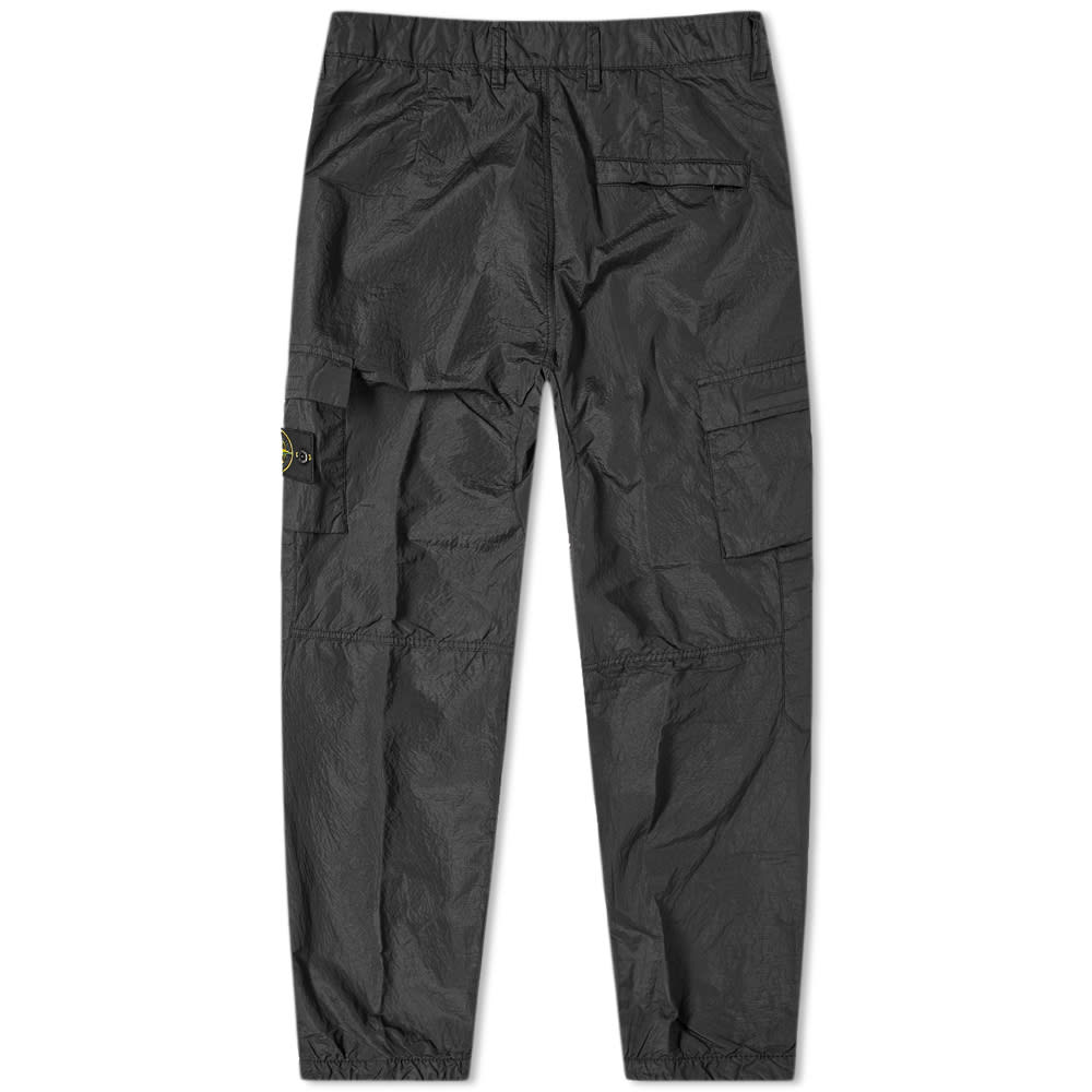 Stone Island Nylon Seersucker Cargo Pant Black End