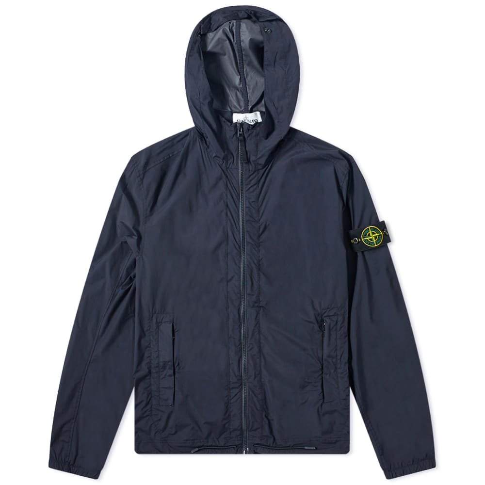 Stone Island Skin Touch Hooded Jacket Navy Blue End