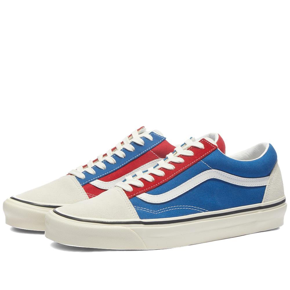 Vans Old Skool 36 DX White, Blue \u0026 Red