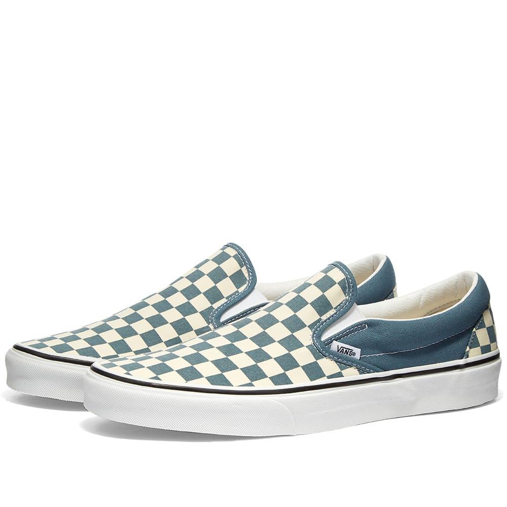 checkered vans on