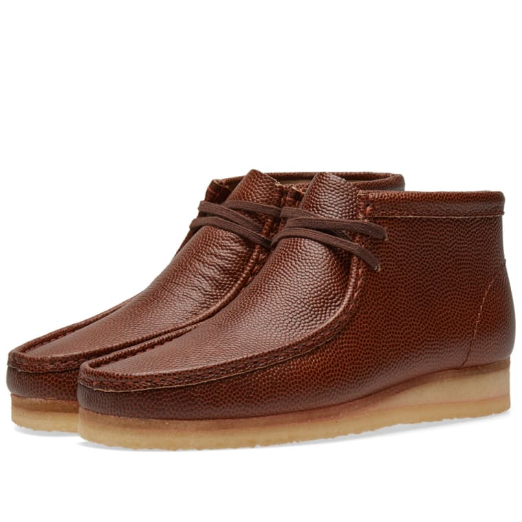 Clarks Originals Brown Leather Wallabee Boots XHTjueAMs