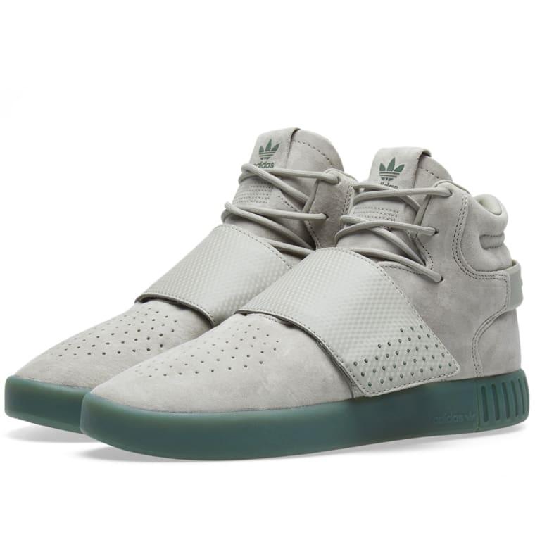 adidas Adidas Tubular Invader Strap Sesame/ Sesame/ Trace Green 5LEleETQD6