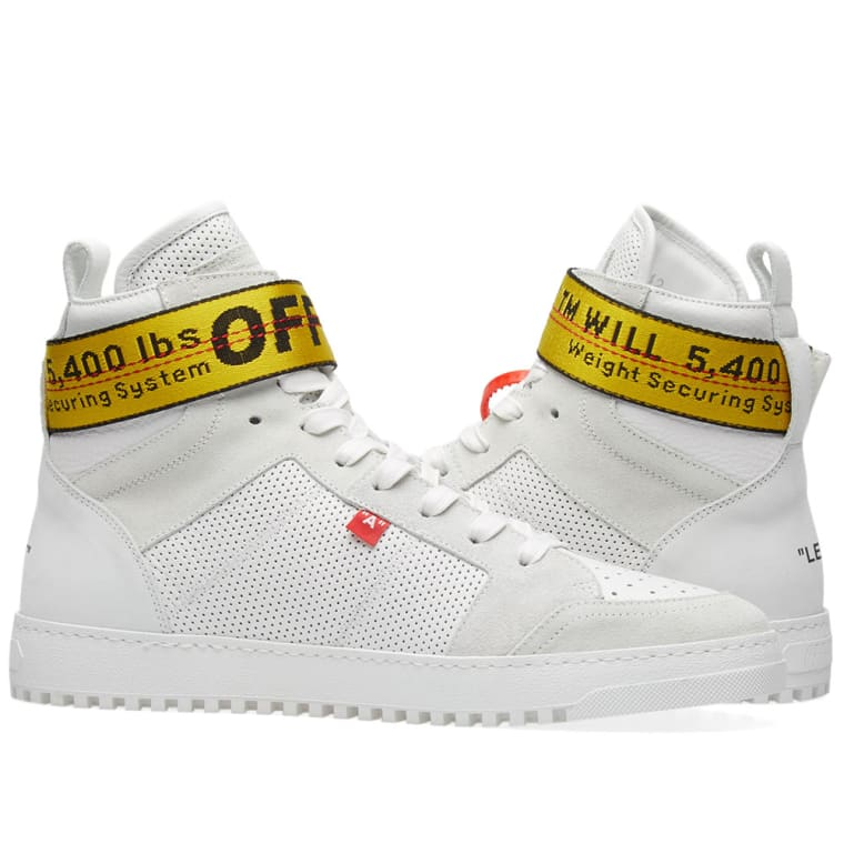 Read more Off-White Leather High-Top Sneakers E7QNg